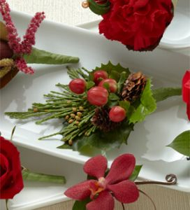 The Red Berry Boutonniere