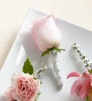 The Pink Rose Boutonniere