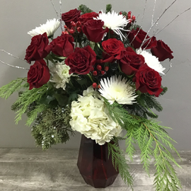 Lafayette Florist Winter Rose Bouquet