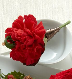 The Red Carnation Boutonniere