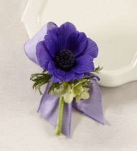 The Purple Passion Boutonniere