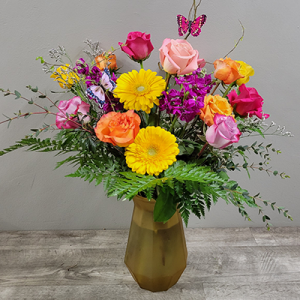 Butterfly Rose Arrangement