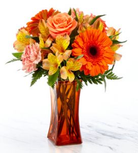 The Orange Essence Bouquet- VASE INCLUDED